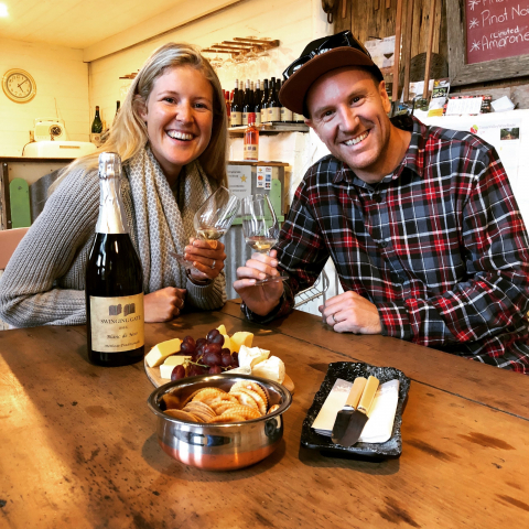 Night Moves wine tour with a gourmet dinner platter included plus a $40 total wine credit for bottle purchases at the vineyards visited