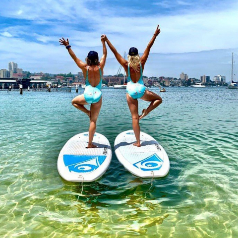 Private Stand Up Paddle Board Yoga Class for Two