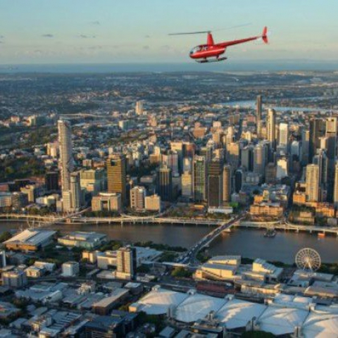 Brisbane City Scenic Tour – Private Helicopter Tour up to Three