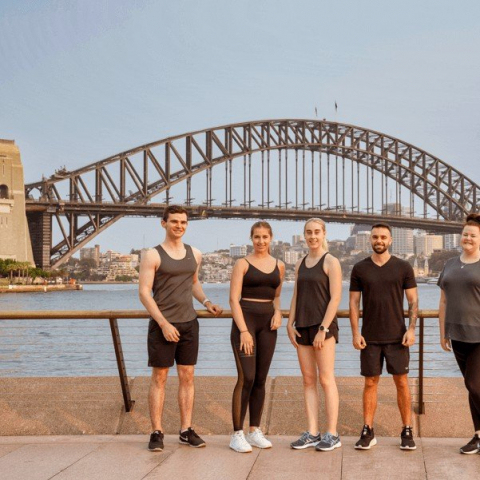 Sydney Harbour Sights Running Tour for Three People