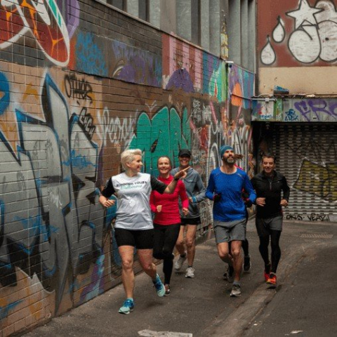 Melbourne Laneways Discovery Running Tour for Three People